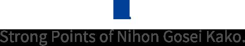 Strong Points of Nihon Gosei Kako.